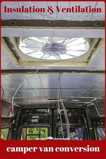 Build a camper van insulation and ventilation
