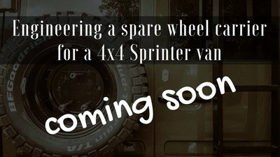 Camper van installation guides - how to engineer a spare wheel carrier for a Sprinter van