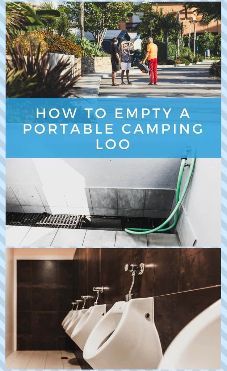 How to empty a portable camping toliet