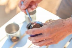 It's hard to believe but today we had an amazing and unique coffee tasting demonstration in the Sahara Desert from Sharon, one of our fellow travellers.