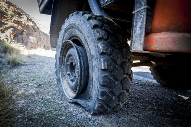 Replacing Unimog tyres in Morocco