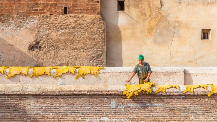 Visiting the leather tanneries of Fes in Morocco is quite the experience. Unchanged for centuries, it's one of the unforgettable things to do in Fes.