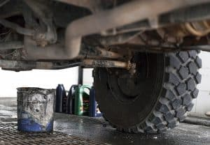 Unimog oil change in Morocco