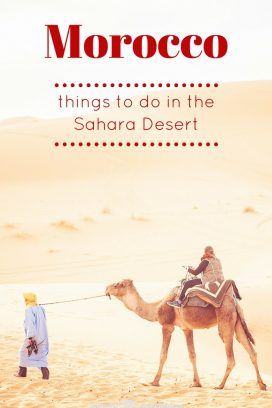 The desert is our favourite region of Morocco and to help you along the way, here are our some of our favourite things to do in the Sahara Desert, Morocco. #Morocco #SaharaDesert Read the full article here: //mowgli-adventures.com/our-favourite-things-to-do-in-the-sahara-desert/