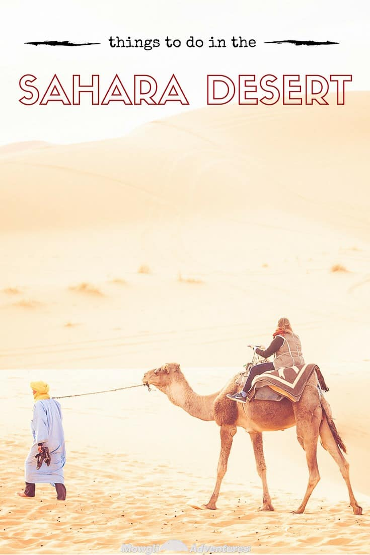 The desert is our favourite region of Morocco and to help you along the way, here are our some of our favourite things to do in the Sahara Desert, Morocco. #Morocco #SaharaDesert Read the full article here: http://mowgli-adventures.com/our-favourite-things-to-do-in-the-sahara-desert/