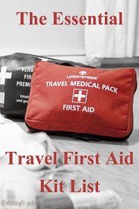Pinterest - Essential Travel First Aid Kit
