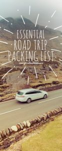 Essential road trip packing list