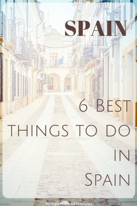 Check out this list of our favourite things to do in Spain. From mountains to tapas, beaches to city breaks. Spain has it all. #TravelSpain #Spain Read the full article here: //mowgli-adventures.com/6-favourite-things-to-do-in-spain/