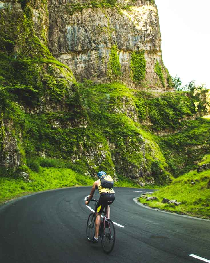 cycling through cheddar gorge