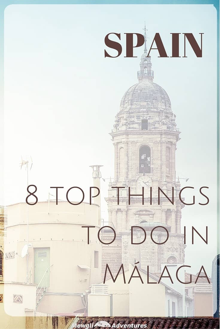 8 of the top things to do in Málaga including the best sights, museums and day trips. If you're visiting Spain, Málaga is a city for you! #Spain #Malaga #SpanishCityBreak Read the full article here: http://mowgli-adventures.com/top-things-to-do-in-malaga/