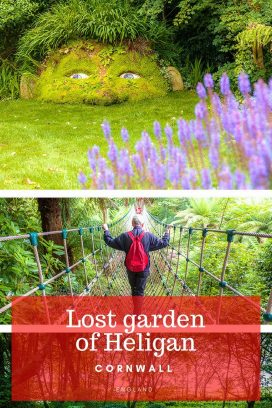 There is so much to explore at the lost garden of Heligan. A day of discovering secret gardens, rope bridges and a giant's adventure playground await you! #Cornwall #VisitBritain Read the full article here: //mowgli-adventures.com/lost-garden-of-heligan/