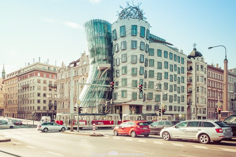 Meet the Fred and Ginger Dancing House of Prague! Just look at it! Doesn't it look like a man holding a woman in a dancing embrace?