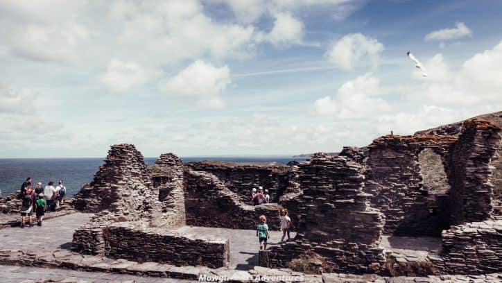 The ruins of Tintagel castle, Cornwall