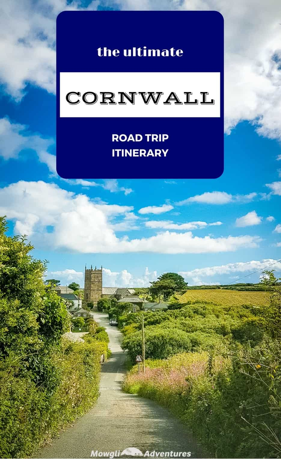 It's little wonder Cornwall is considered one of the most scenic stretches of coastline in England! With dramatic cliffs, hidden coves, lost gardens and the best ice cream ever, Cornwall is just begging to be explored. Here's the itinerary for the ultimate road trip in Cornwall taking you all around this spectacular coastline. #Cornwall #RoadTrip #Travel #England Get the full route here: http://mowgli-adventures.com/ultimate-road-trip-in-cornwall/