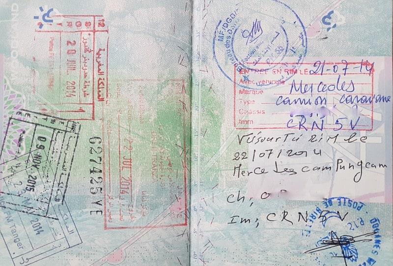 Taking A Car Into Morocco Passport Control Mowgli Adventures
