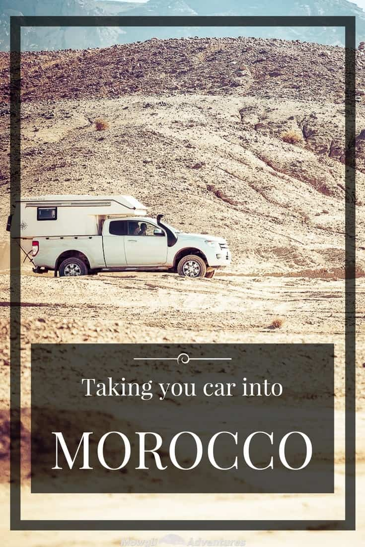 Morocco is a perfect destination for a road trip and travelling independently. Despite what many people think, you do not need a specialised vehicle. Sure there's lots of off-road route you can take, but most of the country in accessible without a 4x4. Just stick to the roads. Many people have asked us about the process for entering Morocco in your own vehicle. This guide will show you how to enter Morocco in your own vehicle and help you through the process. #Morocco #RoadTrip #Travel http://mowgli-adventures.com/taking-a-car-into-morocco/