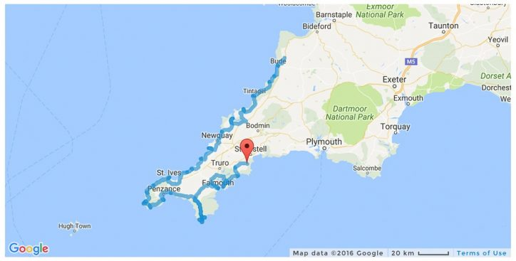 Map Of England Showing Cornwall.The Ultimate Road Trip In Cornwall England Mowgli Adventures