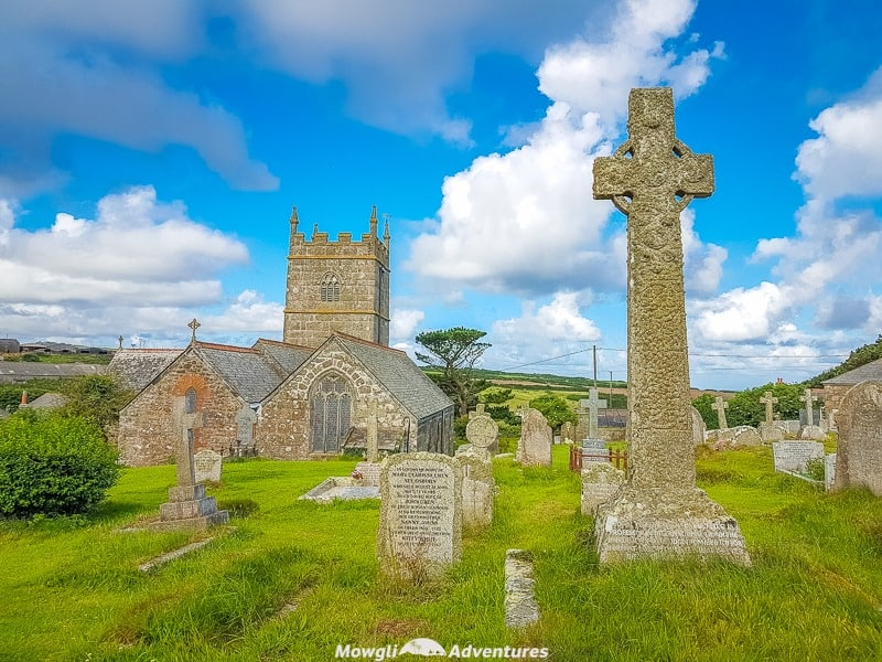 St Senara's church in Zennor