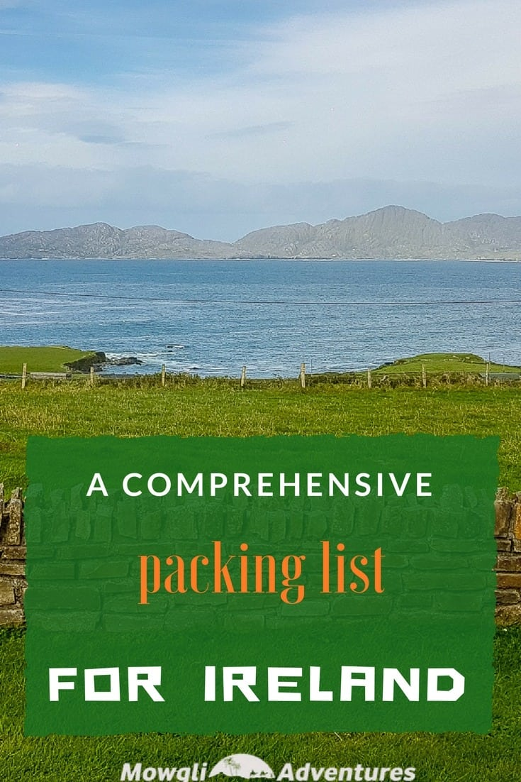 Planning a trip to Ireland? Use this packing list to help you pack for Ireland. Click here for a comprehensive packing list for Ireland. #TravelTips #IrelandTravel Read the full article here: http://mowgli-adventures.com/what-to-pack-for-ireland/