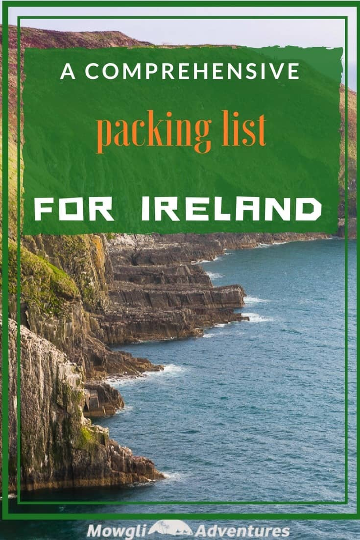 Planning a trip to Ireland? Use this packing list to help you pack for Ireland. Click here for a comprehensive packing list for Ireland. #TravelTips #IrelandTravel Read the full article here: //mowgli-adventures.com/what-to-pack-for-ireland/