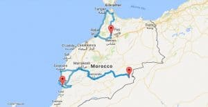 Are you planning a road trip in Morocco but don't have much time? Try these 1 week road trip itineraries in Morocco - you'll be amazed how much you can see! Complete with places to stay, route plans, maps and much more. #Morocco #RoadTrip #Travel Find out more by clicking on the following link: //mowgli-adventures.com/1-week-road-trip-itineraries-in-morocco