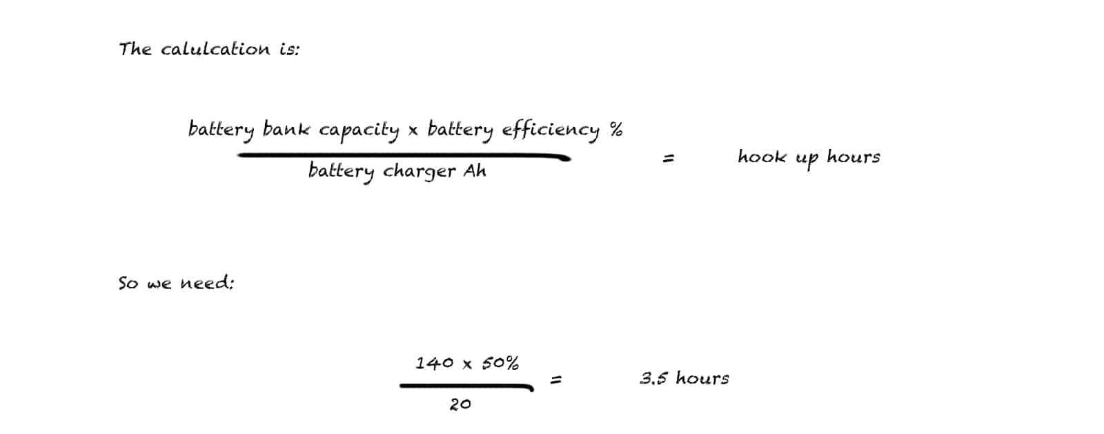 Camper van electrics explained - hook up calculation