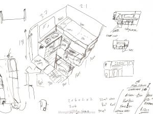 Planning a camper van conversion - layout