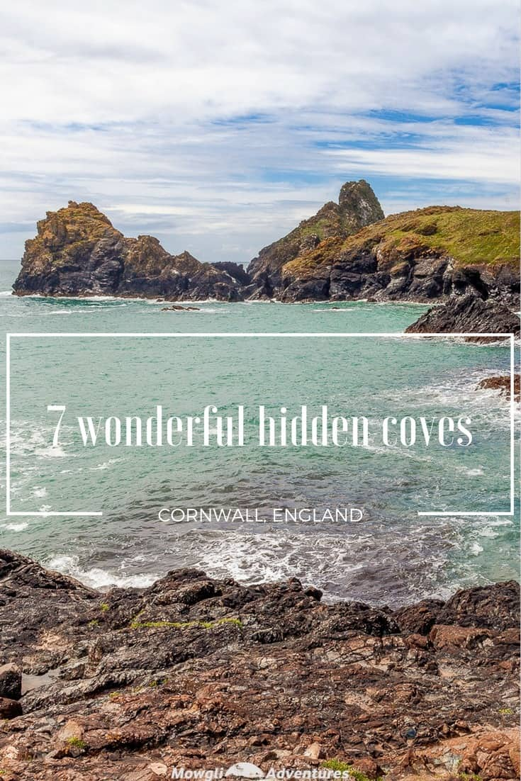 Cornwall's rugged coastline is wild & full of hidden coves. Real hidden gems! Here's our list of the 7 coolest coves in Cornwall to visit on a UK road trip. Read the full article here:http://mowgli-adventures.com/7-coolest-coves-in-cornwall/