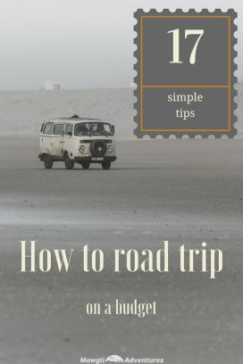 Road trip on a budget with these 17 simple money saving tips. Plan ahead to save money on road trip accommodation, food costs & lots more.... #VanLife #TravelTips #RoadTrip #MoneySavingTips Read the full article here: //mowgli-adventures.com/how-to-road-trip-on-a-budget/