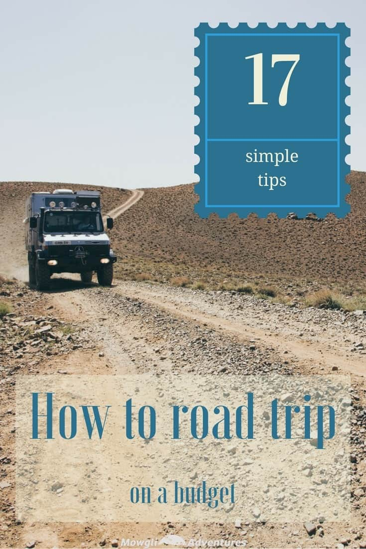 Road trip on a budget with these 17 simple money saving tips. Plan ahead to save money on road trip accommodation, food costs & lots more.... #VanLife #TravelTips #RoadTrip #MoneySavingTips Read the full article here: http://mowgli-adventures.com/how-to-road-trip-on-a-budget/