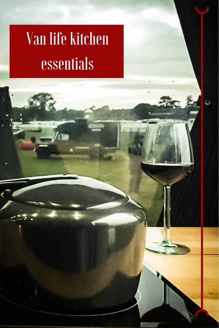 Here's a list of our van life kitchen essentials we can't (or won't) travel without. Becoming a minimalist doesn't mean doing without. #Travel #Campervan #VanLife Read the full article here: http://mowgli-adventures.com/van-life-kitchen-essentials/