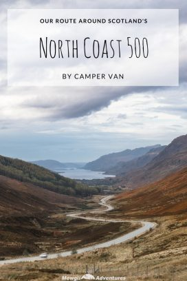 Our NC500 route by camper van was jam packed with stunning scenery, free overnight camping and fantastic drives! Get inspired here! Take a look at our full NC500 route with hints, tips and inspiration to help you plan your own North Coast 500 road trip. #NC500