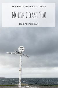 Our NC500 route by camper van was jam packed with stunning scenery, free overnight camping and fantastic drives! Get inspired here! Take a look at our full NC500 route with hints, tips and inspiration to help you plan your own North Coast 500 road trip. #NC500 #NC500Route #VisitScotland Red the full article here: //mowgli-adventures.com/nc500-route-scotland/