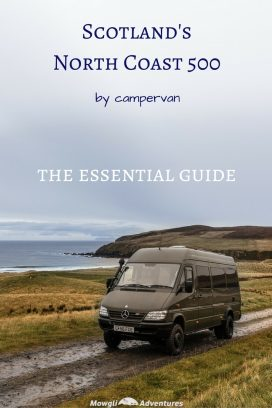 Are you planning on driving Scotland's North Coast 500? Check out our essential guide to driving the NC500 by camper van before you set off. #NC500 #NorthCoast500 Read the full article here: //mowgli-adventures.com/guide-to-driving-the-nc500-by-camper-van/