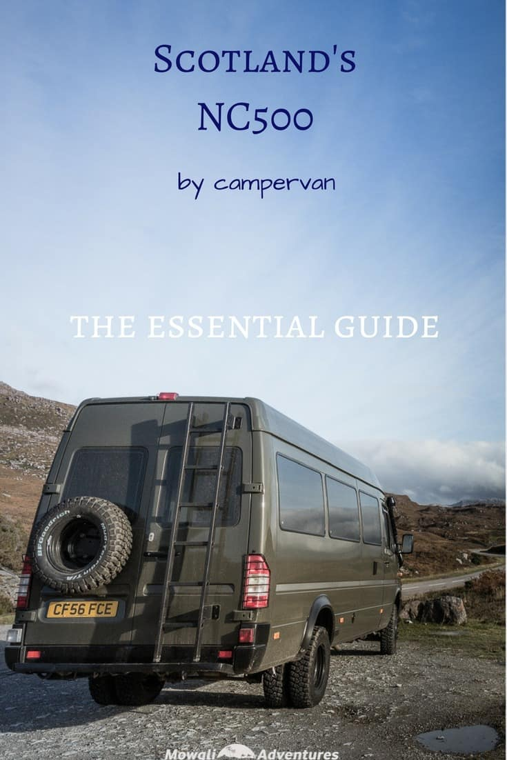 Are you planning on driving Scotland's North Coast 500? Check out our essential guide to driving the NC500 by camper van before you set off. #NC500 #NorthCoast500 Read the full article here: http://mowgli-adventures.com/guide-to-driving-the-nc500-by-camper-van/