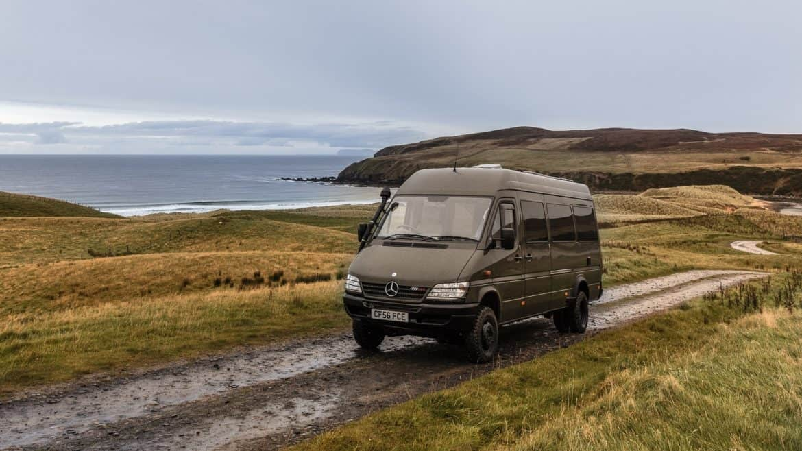 Driving the NC500 by camper van -Are you planning on driving Scotland's North Coast 500? Check out our essential guide to driving the NC500 by camper van before you set off. #NC500 #NorthCoast500 Read the full article here: //mowgli-adventures.com/guide-to-driving-the-nc500-by-camper-van/