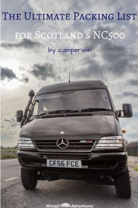 Whatever the time of year you plan on driving the NC500, our North Coast 500 packing list for your camper van has you covered. #NC500 #NorthCoast500 Read the full article here: http//mowgli-adventures.com/north-coast-500-packing-list-camper-van/