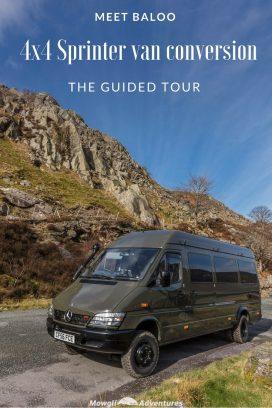 Meet Baloo, our 4×4 Mercedes Sprinter van conversion. We've converted her ourselves and we're now ready for you take a look around. Enjoy our 4x4 Sprinter van conversion tour - we hope it inspires your own camper van build.