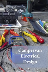 Take a look at my camper van electrical design including monitoring systems, battery charging, main & leisure battery output, components installed and a list of tools needed.