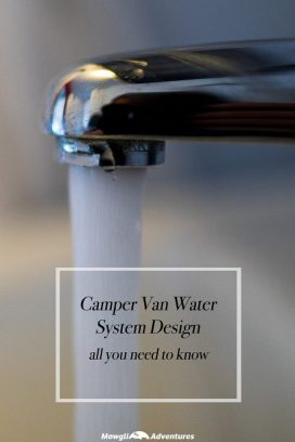 This article provides you with my camper van water system design. The design is pretty generic and aside from sizing and component specifics, is what most motorhome and camper vans have installed. If you're looking for a design for your own van build, this is a great base to start from.