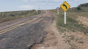 Driving in Uruguay - country roads