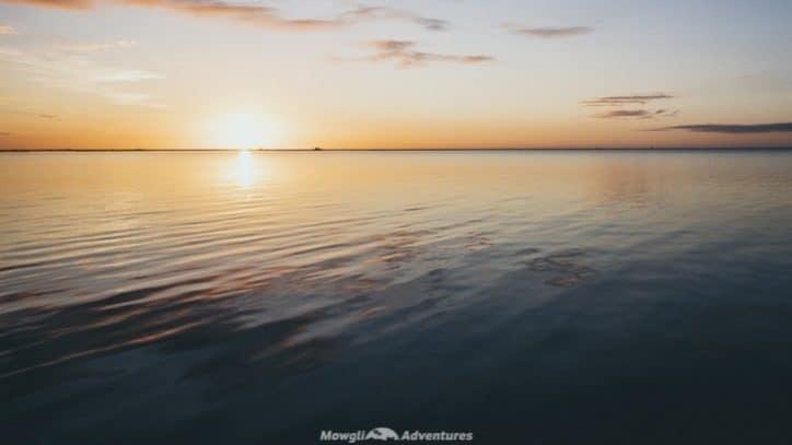 Sunset over Laguna Ibera