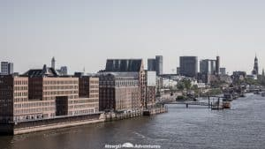 One day in Hamburg - city skyline