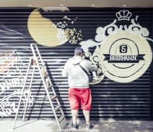 One day inHamburg - street artist