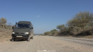 Bolivian border Trans-Chaco Highway in Paraguay