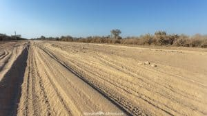 Driving conditions on the Trans-Chaco Highway in Paraguay