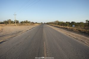 rare Trans-Chaco Highway in Paraguay