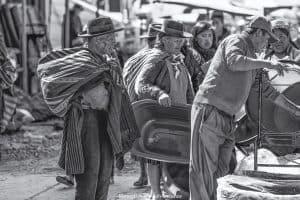 Tarabuco Sunday market - bartering for agricultural produce