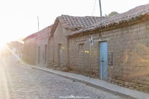 Tarabuco Sunday market - cobbled streets