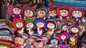 Tarabuco Sunday market - colourful crafts